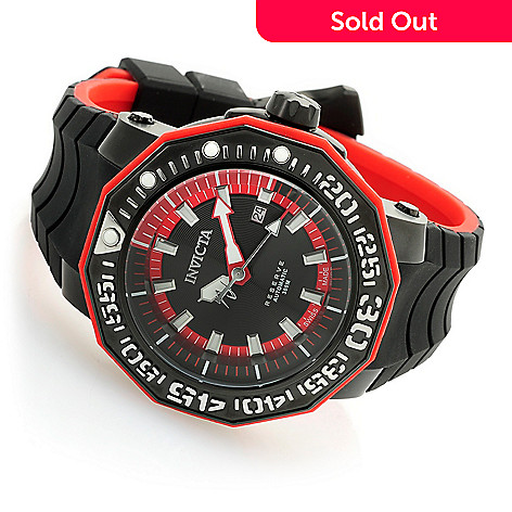 145ed734406 644-122- Invicta Reserve Men s 52mm Sea Monster Swiss Made Automatic  Silicone Strap Watch