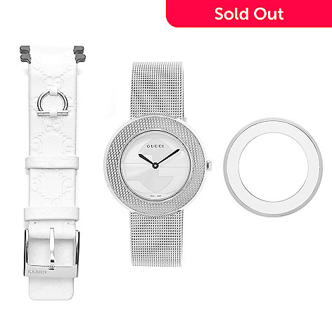 386e093c612 Gucci Women s U-Play Swiss Made Quartz Mesh Strap Watch w  Extra ...