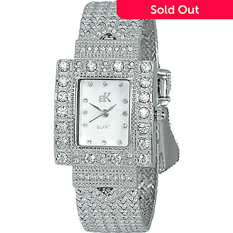 93b5db2d033 644-657- Adee Kaye Women's Herbeat Quartz Mother-of-Pearl Crystal Accented
