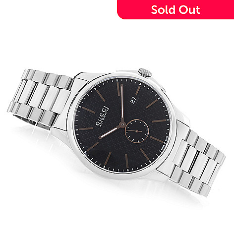 7a7ac5ad4575 644-776- Gucci Men s 40mm G-Timeless Swiss Made Automatic Stainless Steel  Bracelet