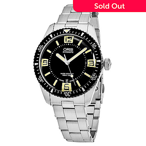 644 910 Oris Men S 40mm Divers 65 Swiss Made Automatic Date Stainless Steel Bracelet