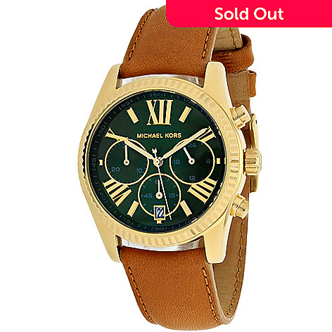 579a802dc425 644-928- Michael Kors Women s Lexington Quartz Chronograph Leather Strap  Watch