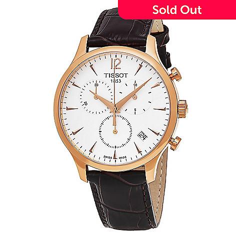 a881b89b25d 645-048- Tissot Men s 42mm Tradition Swiss Made Quartz Chronograph Leather  Strap Watch