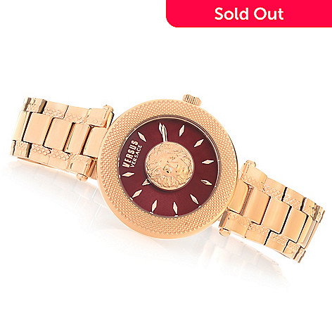 b98db58d711 645-074- Versus Versace Women's Bricklane Quartz Sunray Stainless Steel  Bracelet Watch