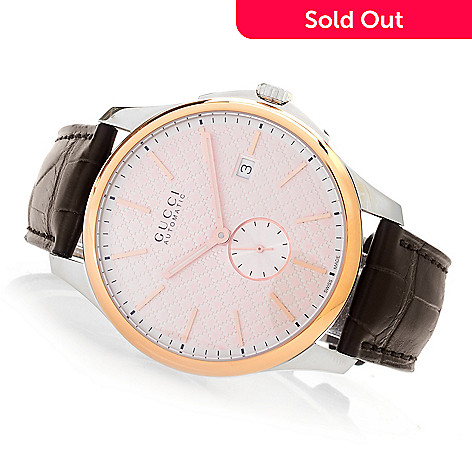 a5a5b5c8297 645-090- Gucci Men s 40mm G-Timeless Swiss Made Automatic 18K Rose Gold