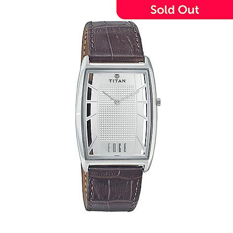 f6d381d1fb7 645-307- Titan Men s 30mm Edge Series Ultra Slim Quartz Leather Strap Watch