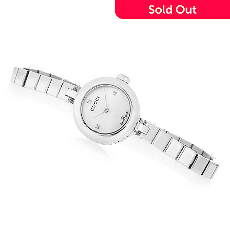 da26403209c 645-347- Gucci Women s Diamantissima Swiss Made Quartz Diamond Accented  Stainless Steel Bracelet Watch