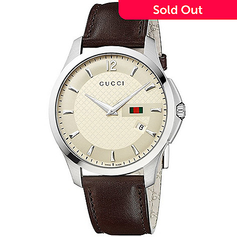 f36d1d58fd0 645-522- Gucci Men s 40mm G-Timeless Swiss Made Quartz Leather Strap Watch