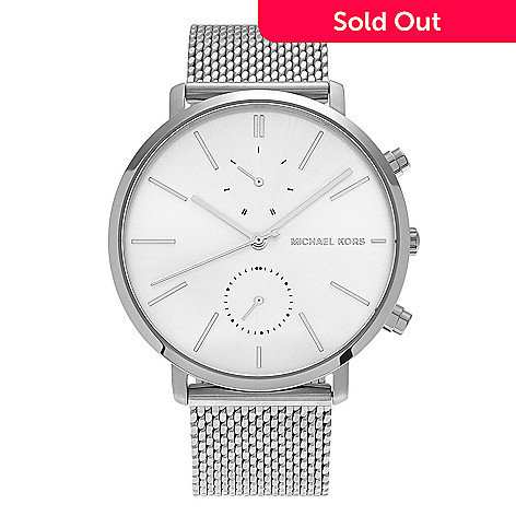 a64e9ac813ec 645-881- Michael Kors Men s 42mm Jaryn Quartz Chronograph Mesh Stainless  Steel Bracelet Watch