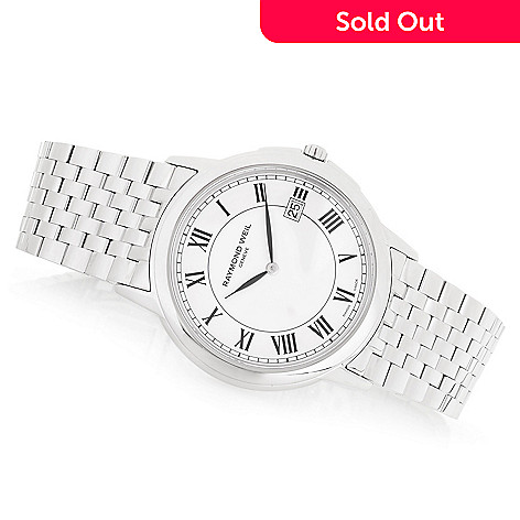 1ff5d4196f1 645-906- Raymond Weil Men s 39mm Tradition Swiss Made Quartz Sapphire  Crystal Stainless Steel