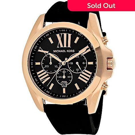 49bf18a8352f 646-026- Michael Kors Men s 48mm Bradshaw Quartz Chronograph Silicone Strap  Watch
