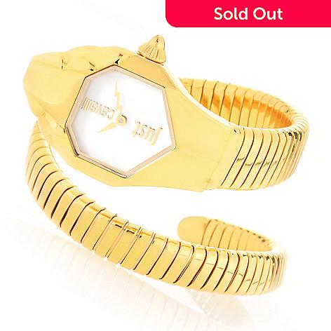 7a73102e08 646-568- Just Cavalli Women s Cobra Quartz Stainless Steel Snake Double  Wrap Bracelet Watch