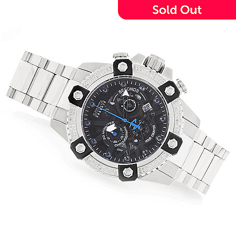 Invicta Reserve Men's 48mm Octane Swiss Quartz Chronograph Diamond &  Gemstone Dial Bracelet Watch