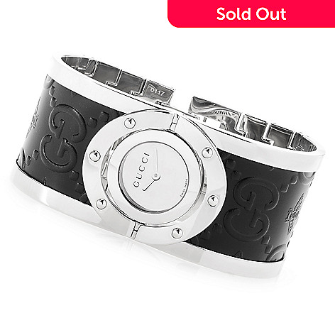 cfb7f806a57 646-835- Gucci Women s Twirl Swiss Made Quartz Sapphire Crystal Bangle  Bracelet Watch