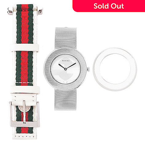 f97255f098a Gucci Women s U-Play Swiss Made Quartz Bracelet Watch w  Extra Bezel ...