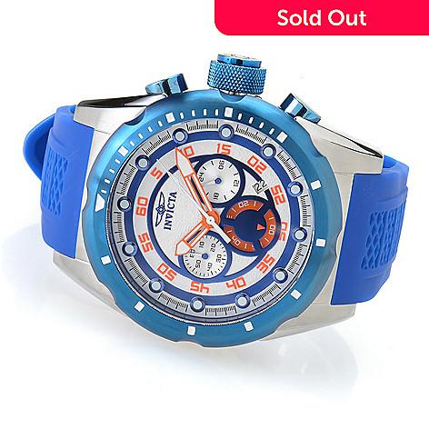 Invicta 50mm Speedway Quartz Chronograph Silicone Strap Watch