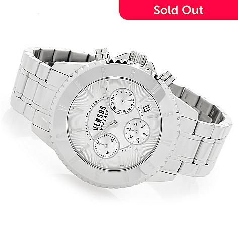 646-990- Versus Versace Men s 44mm Tokyo Quartz Chronograph Stainless Steel  Bracelet Watch 0c4e57d186786