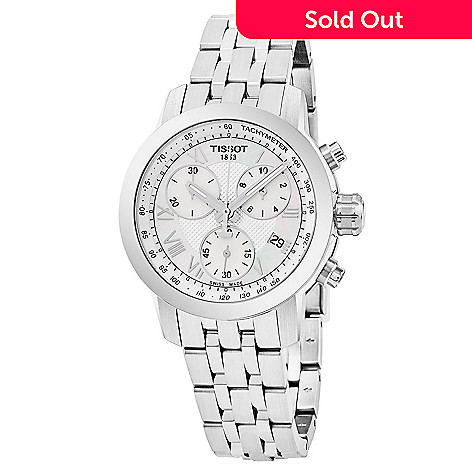Tissot Women s PRC 200 Swiss Made Quartz Chronograph Mother-of-Pearl ... aa94f4e66a