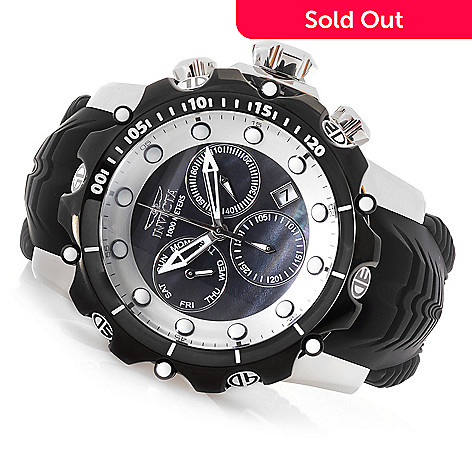 1449215f327 647-153- Invicta Men's 52mm Venom Sea Dragon Gen II Swiss Quartz  Chronograph Silicone