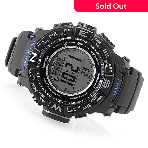 351c0593c3ea 647-165- Casio Men s 51mm Pro Trek Triple Sensor Solar Digital Quartz Multi  Function