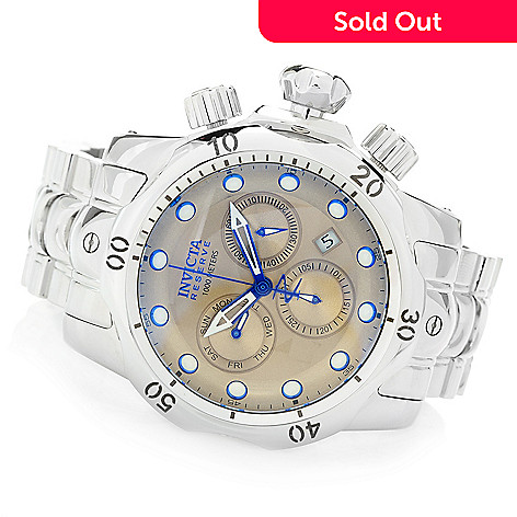 8ffe9f25d 647-186- Invicta Reserve Men's 53mm Venom Swiss Quartz Chronograph High  Polished Bracelet Watch