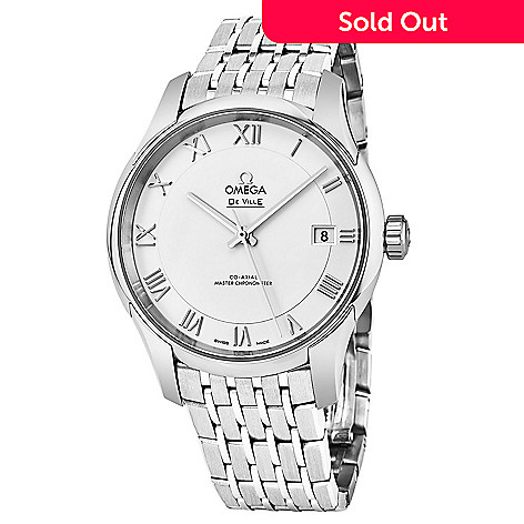 c8a8ad415a341 647-803- Omega Men s 41mm DeVille Hour Vision Swiss Made Automatic  Stainless Steel Bracelet