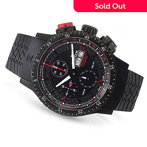 648-193- EDOX Men s 47mm Chronorally-1 Swiss Made Automatic Chronograph  Rubber Strap f882565e1a9