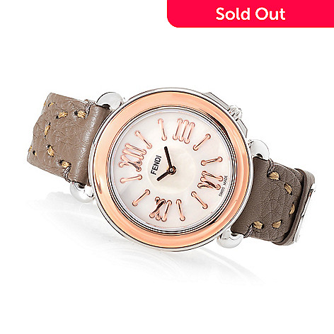 9841fe684a60 648-206- Fendi Women s Selleria Swiss Made Quartz Mother-of-Pearl Leather