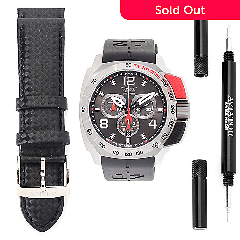 c366fa65af8 648-224- Aviator Men s 50mm Professional Limited Edition Swiss Made Quartz  Chrono Watch w