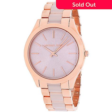 090033b49ab0 648-655- Michael Kors Women s Slim Runway Quartz Stainless Steel Bracelet  Watch