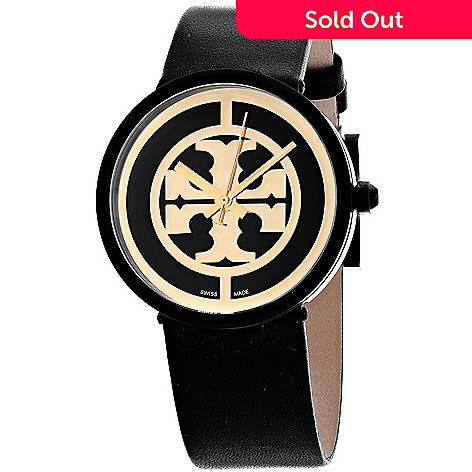 5664cd3d2 648-718- Tory Burch Women's Reva Swiss Made Quartz Leather Strap Watch