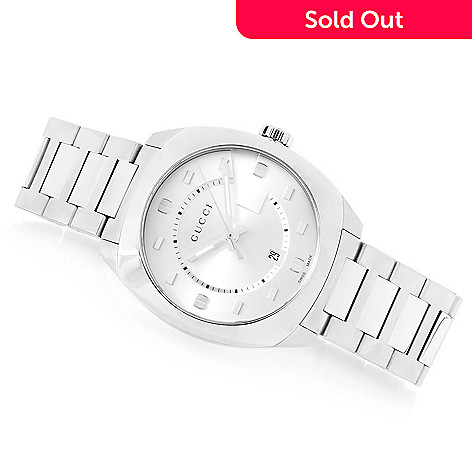 5038ffe0011 648-992- Gucci 28mm or 40mm GG2570 Swiss Made Quartz Sapphire Crystal Stainless  Steel