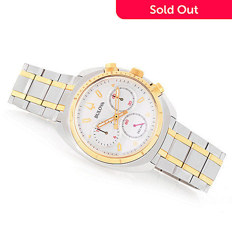 4556e46e8 649-231- Bulova Men's 43mm Curv Quartz Chronograph Sapphire Crystal Stainless  Steel Bracelet Watch