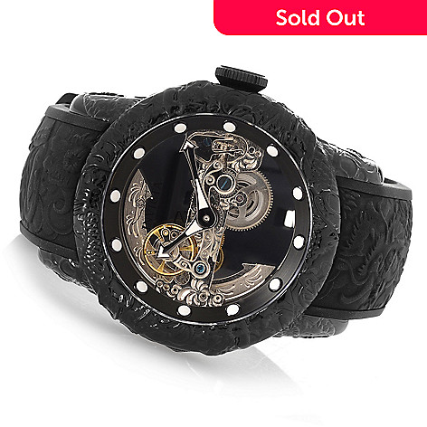 0fda6cad 649-460- Invicta Men's 50mm Empire Dragon Ghost Automatic Skeletonized Dial  Silicone Strap Watch