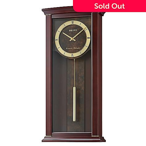 Seiko Westminster Whittington Chime Alder Contemporary Wall Clock