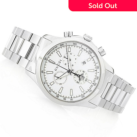 9910c81870a 650-928- Gucci 38mm G-Timeless Swiss Made Quartz Chronograph Stainless  Steel Bracelet