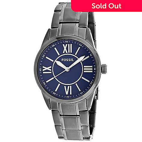 eb8842f1c 651-179- Fossil Men's 40mm Classic Quartz Stainless Steel Bracelet Watch