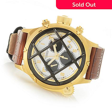 7d1ae85f1 652-844- Invicta Men's 52mm Russian Diver Quartz Chronograph Leather Strap  Watch