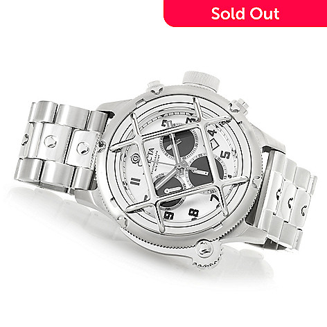 bd2459927 652-845- Invicta Men's 52mm Russian Diver Quartz Chronograph Stainless  Steel Bracelet Watch