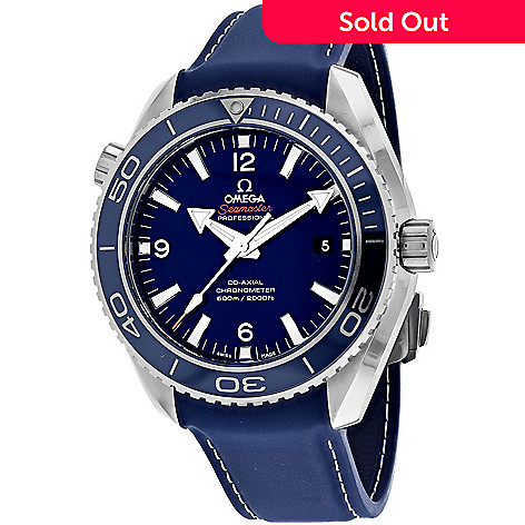 07e265afe7b5e 653-722- Omega Men s 44mm Seamaster Swiss Made Automatic Leather Strap Watch