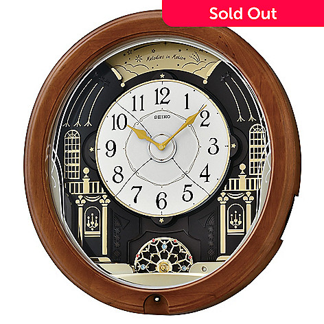 653 929 Seiko Melos In Motion Musical Wooden Led Wall Clock Made W