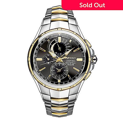 Seiko Perpetual Calendar.Seiko Coutura Men S 44mm Solar Quartz Chronograph Perpetual Calendar Stainless Steel Bracelet Watch
