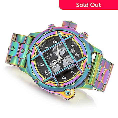 43d2ac42d 654-131- Invicta Men's 52mm Russian Diver Quartz Chronograph Iridescent Bracelet  Watch