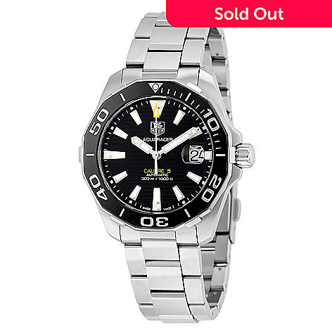 ee282e860ab41 654-370- Tag Heuer Men s 41mm Aquaracer Swiss Made Automatic Stainless  Steel Bracelet Watch