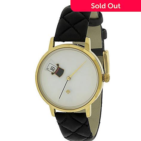 5650967d56b 654-957- Kate Spade Women s Metro Quartz Black Leather Strap Watch