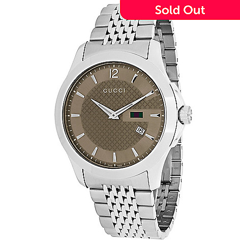 4e9a290caf8 654-990- Gucci Men s 40mm G-Timeless Swiss Made Quartz Date Stainless Steel