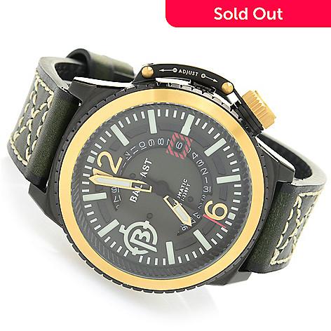 0e36964ac 655-436- Ballast Men's 47mm Trafalgar Self-Winding Automatic Leather Strap  Watch