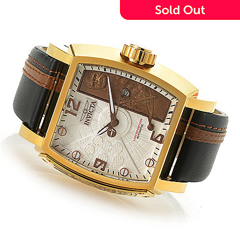 a85b1b472834 655-844- Invicta Star Wars Men s Tonneau Limited Edition Automatic Leather  Strap Watch
