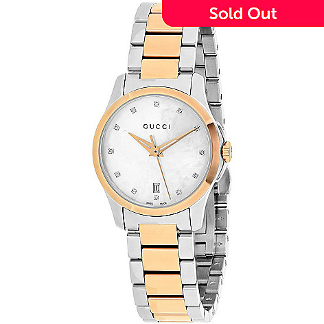 08c6ab40536 656-590- Gucci Women s G-Timeless Swiss Made Quartz Diamond Accented Mother-