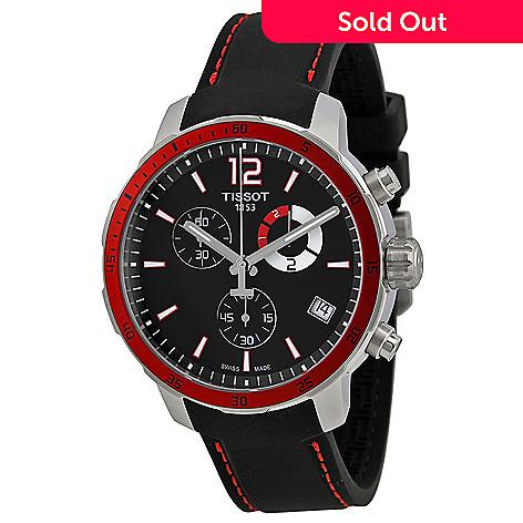 80624f920 656-618- Tissot Men's 42mm T-Sport Quartz Chronograph Leather Strap Watch